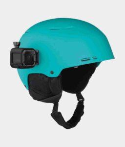 Curved + Flat Adhesive Mounts on helmet
